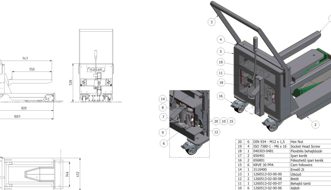 Hidraulikus emelő tervezése és gyártása