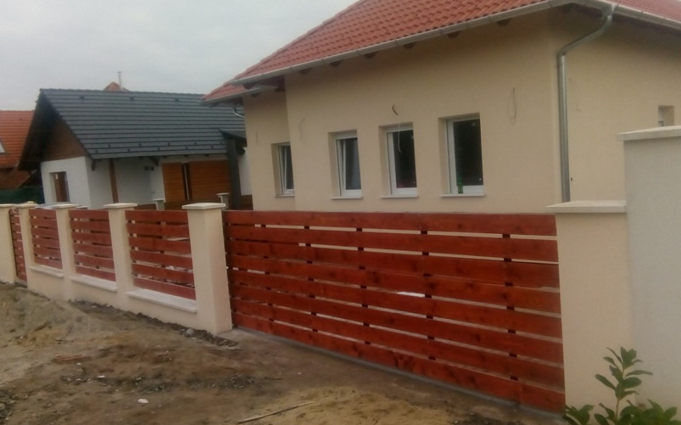 Úszókapu kerítés és kiskapu készítése Veresegyház